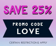 Save with promo code LOVE
